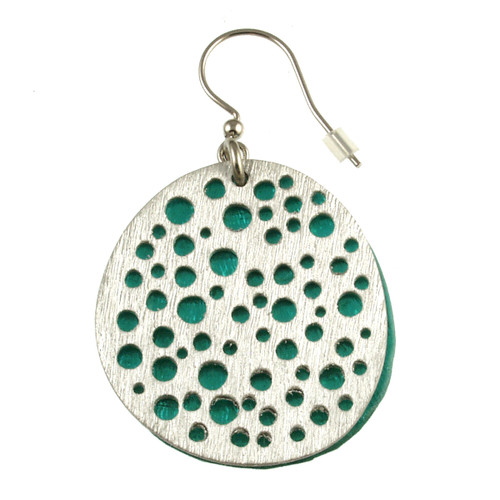 1778-2 - Mini Holes Earrings Turquoise