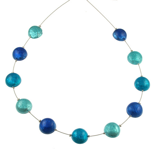 2147-22 - Half Ball Necklace Turquoise