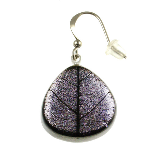 2386-4 - Natural Textured Earring Lilac