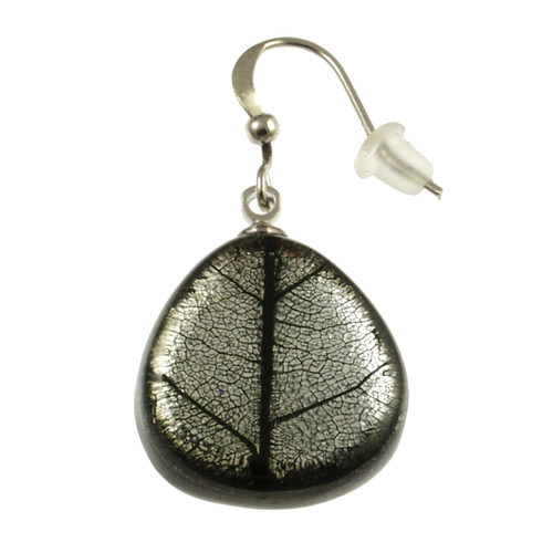 2386-9 - Natural Textured Earring Black