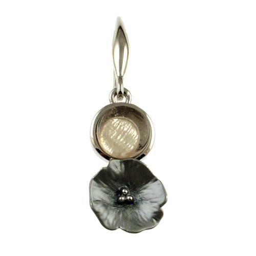 6493-1 - Flower Earring Grey
