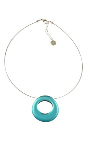 2352-2 - Circle Necklace Turquoise