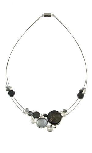 3440-9 - Multi-Dots Necklace Grey Combi