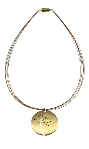 3314-2 - Brushed Gold Wish Necklace