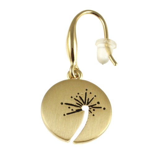 6637-2 - Brushed Gold Wish Earring