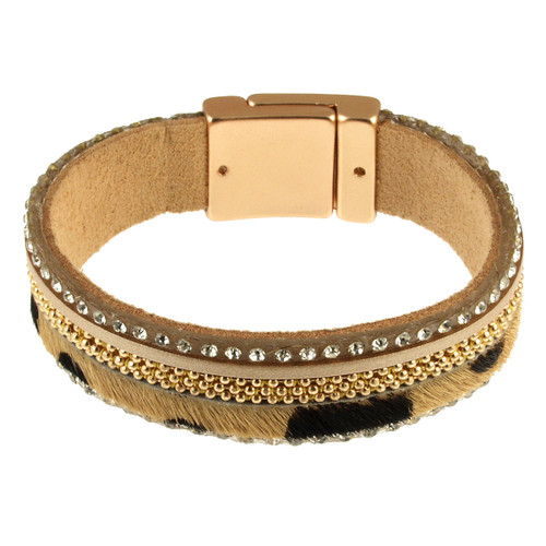 6273-2 - Gold Animal Print Bracelet