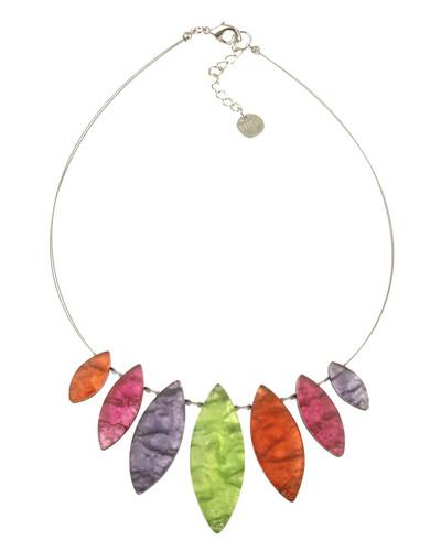 2381-55 - Tribal Leaf Necklace Sherbet