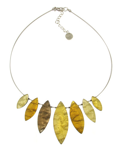 2381-89 - Tribal Leaf Necklace Palomino