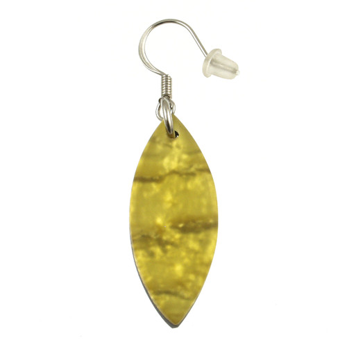 406-89 - Large Tribal Leaf Earring Yellow