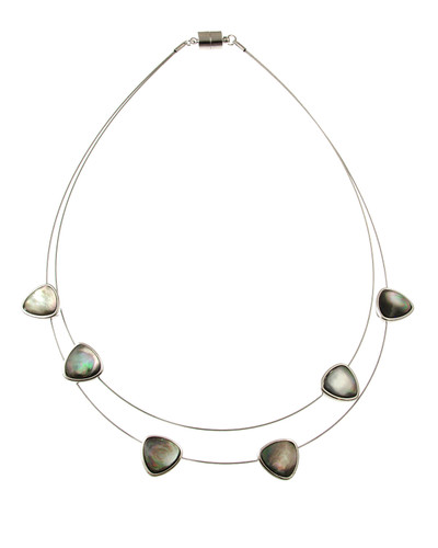 3691-1 - Black Shell Floating Necklace
