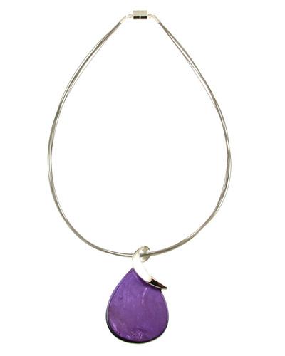 2876-4 - Teardrop Pendant Purple