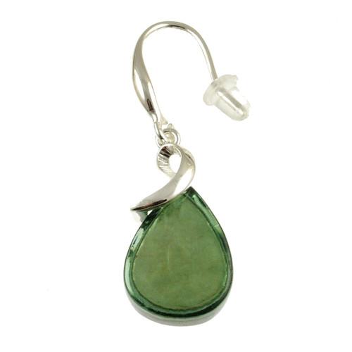 6100-3 - Teardrop Earring Green