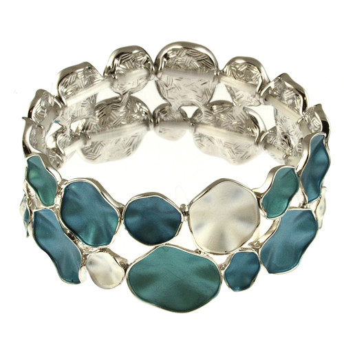 934-22 - BLUE COMBI STRETCH BRACELET