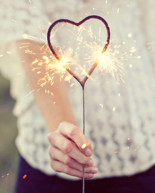 Heart Shaped Sparkler Bundle of 36pcs