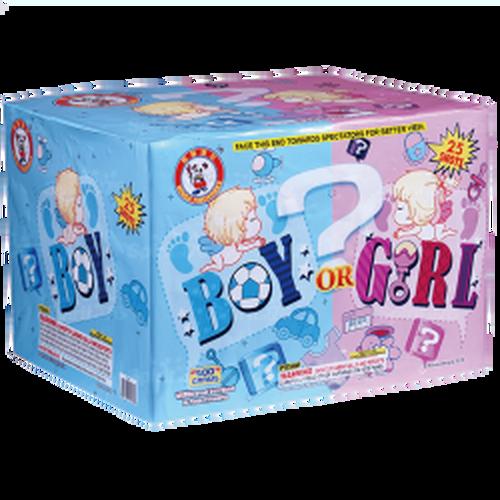 Gender Reveal 500 Gram Fireworks Girl Cake