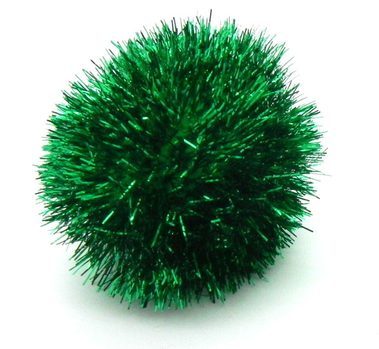 ECMQS Pack of 100 Colourful Mini Sparkly Glitter Tinsel Balls Small Pom Ball for Cats Toy
