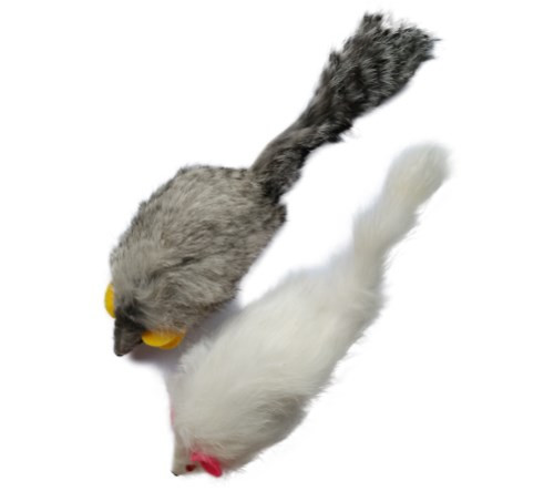 939493a0139 Real Rabbit Fur Mouse Cat Toy with Squeak Sound