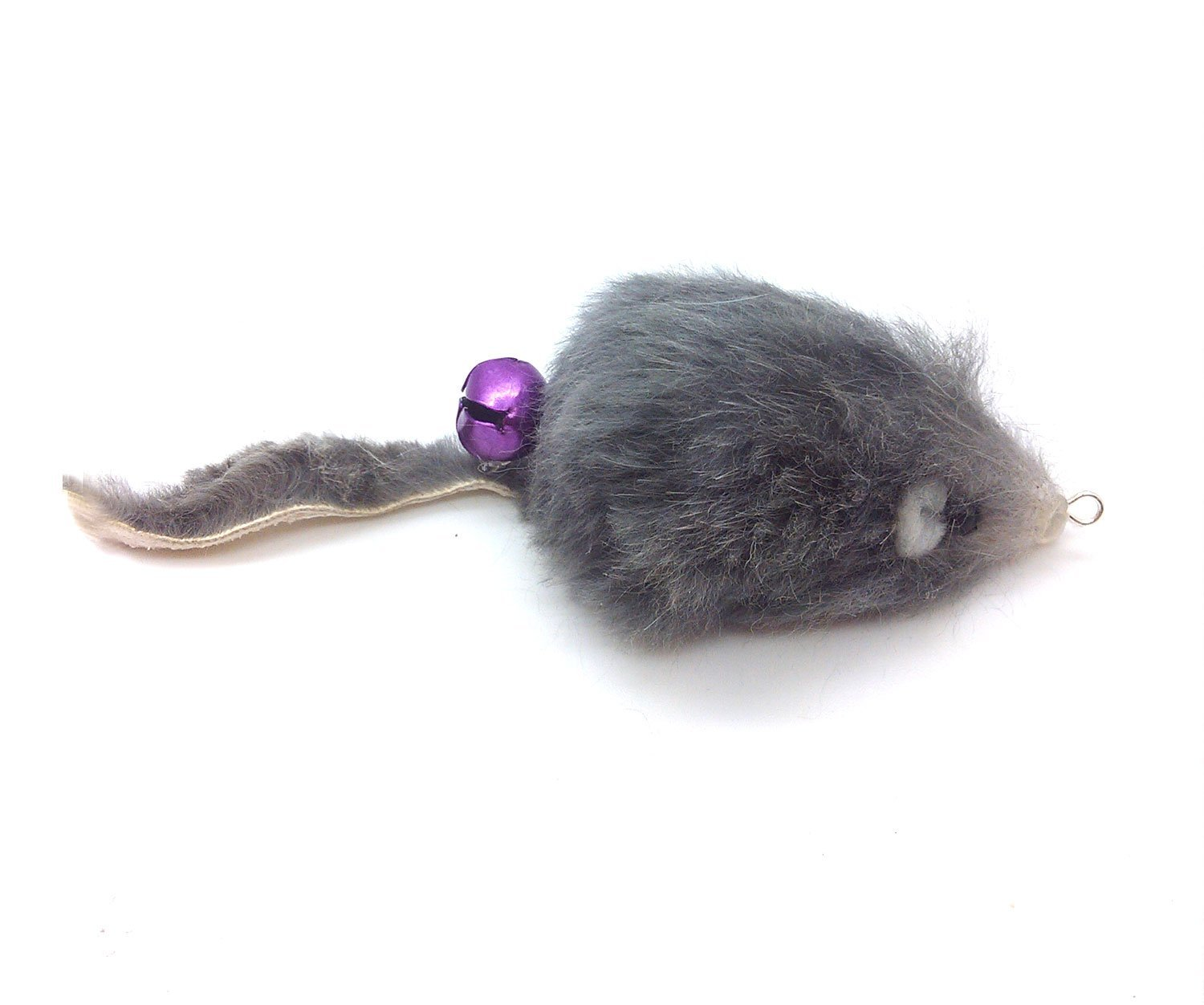 0b625803f57 Rabbit Fur Mouse Teaser Wand Cat Toy