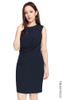 Twist Drape Dress - Midnight Blue
