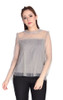 Pleated Tulle Top - Dove Grey