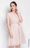 Printed Wrap Front Dress - Cream