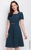 Square Neck Flare Dress - Petrol Blue