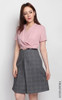 Checkered Bottom Dress - Dusty Pink
