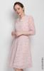Heart Print Chiffon Dress - Pink