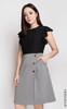 Faux 2-piece Dress - Black