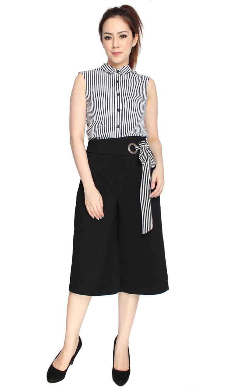 6c3798cee8ee Side Tie Culottes - Black | Singapore Online Boutique Office Wear |  ALYSSANDRA