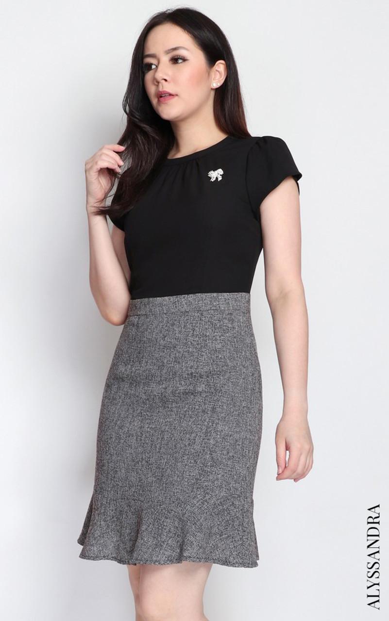 4b0891cdf480 Tweed Bottom Dress - Black | Workwear, Office Dress, Work Dress ...