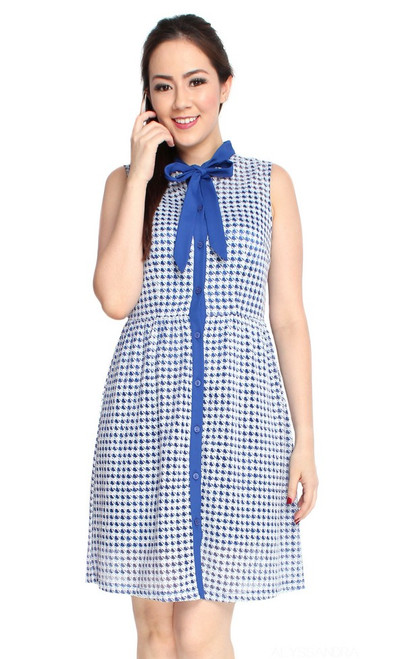 Necktie Dress - Blue