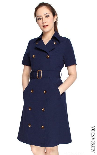 Trench Dress - Navy
