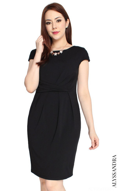 Jersey Sheath Dress - Black