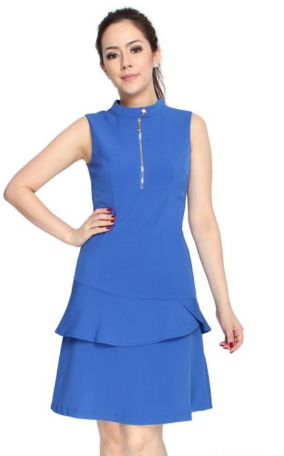 Tiered Mermaid Dress - Blue
