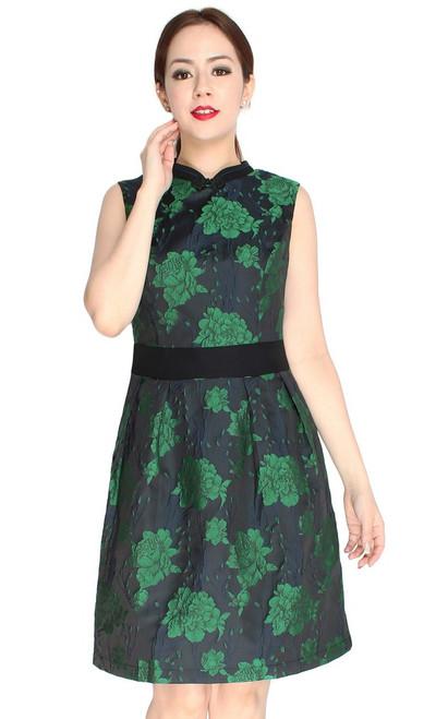 Brocade Cheongsam - Emerald