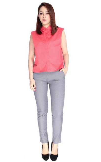Structured Shirt - Coral Pink