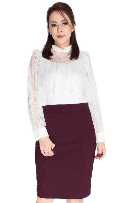 Victorian Lace Top - White