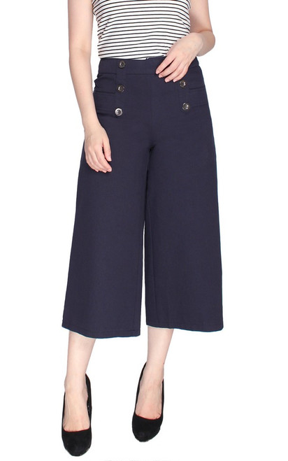 Denim Culottes - Navy