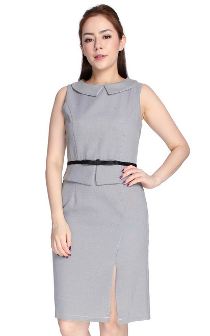 Peter Pan Collar Pencil Dress