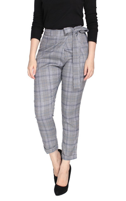 Crossover Cropped Trousers