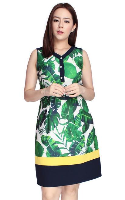 Botanical Dress - Green