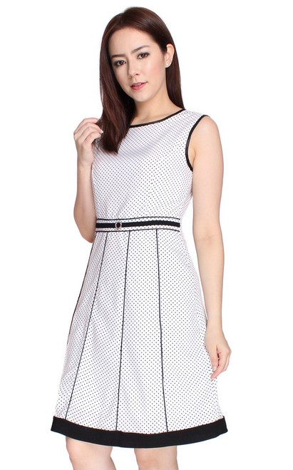 Polka Dot Dress - White