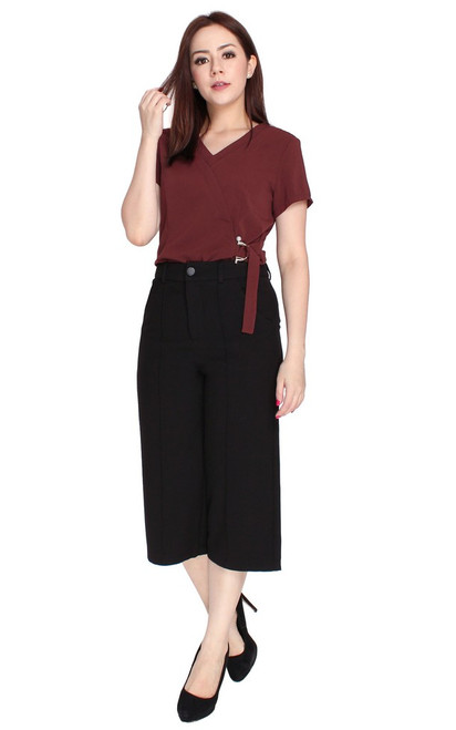 D-Ring Blouse - Oxblood