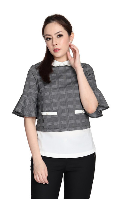 Flared Sleeves Layered Top