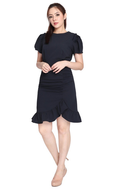 Ruffle Ruched Dress