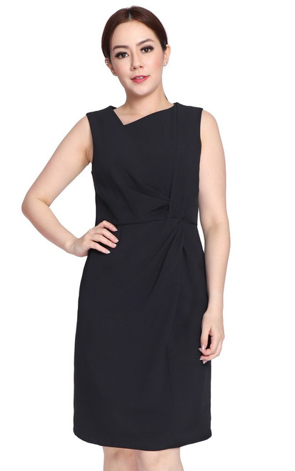 Side Twist Dress - Black