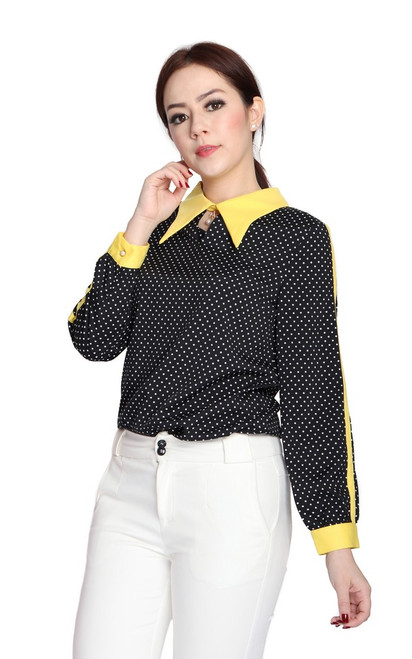 Collared Polka Dot Shirt