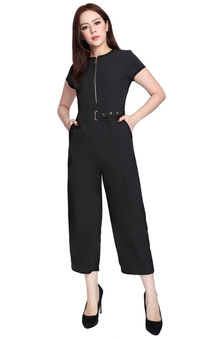 Zipper Jumpsuit - Black