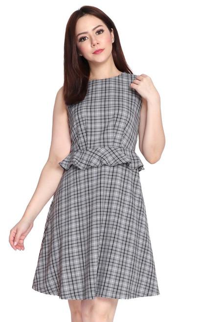 Plaid Peplum Dress